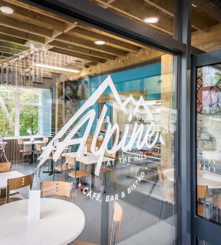 The Alpine Cafe Bar Bistro at The Hill Ski Centre Rossendale