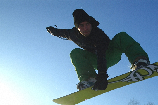 Snowboarding at The Hill Skiing Centre Rossendale